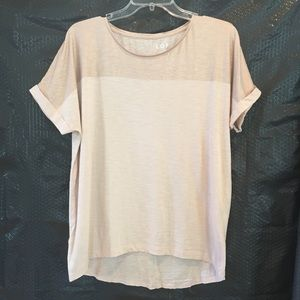 Ann Taylor Loft Rose Gold Metallic Shirt Small